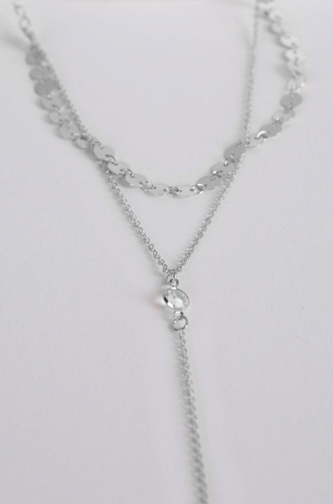 Lei Layered Necklace in Silver [22% OFF]