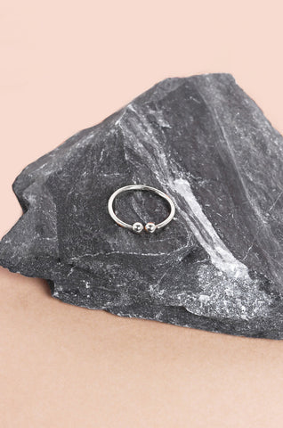 Fepyr Midi Ring in Silver