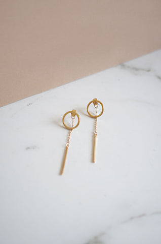 Fonsa Drip Earrings in Gold