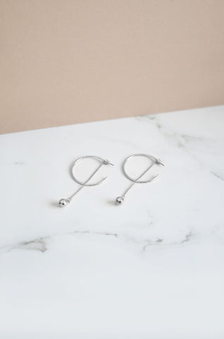 Gli Earrings in Silver