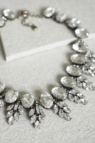Hecuba Gem and Crystal Collar Necklace [LAST PIECE]