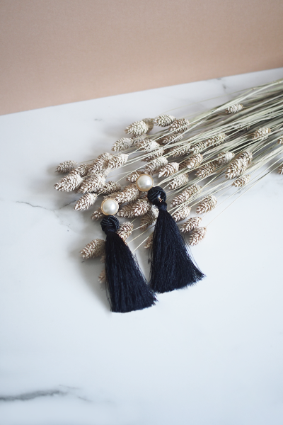 Lael Tassel Earrings in Black