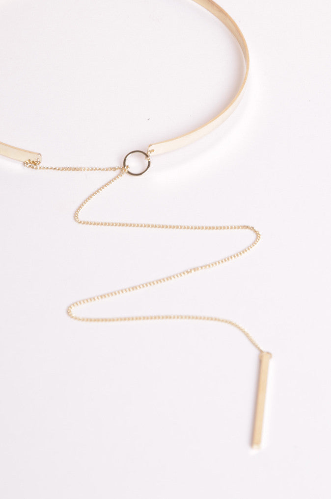 Letemn Choker in Gold [48% OFF]