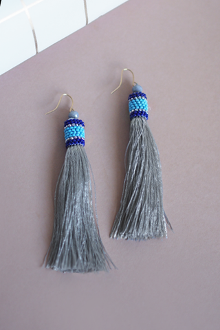 Lilah Tassel Earrings in Silver