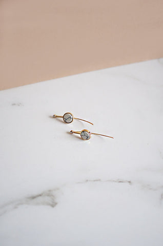 Ciorcal Assymetrical Earrings in Silver