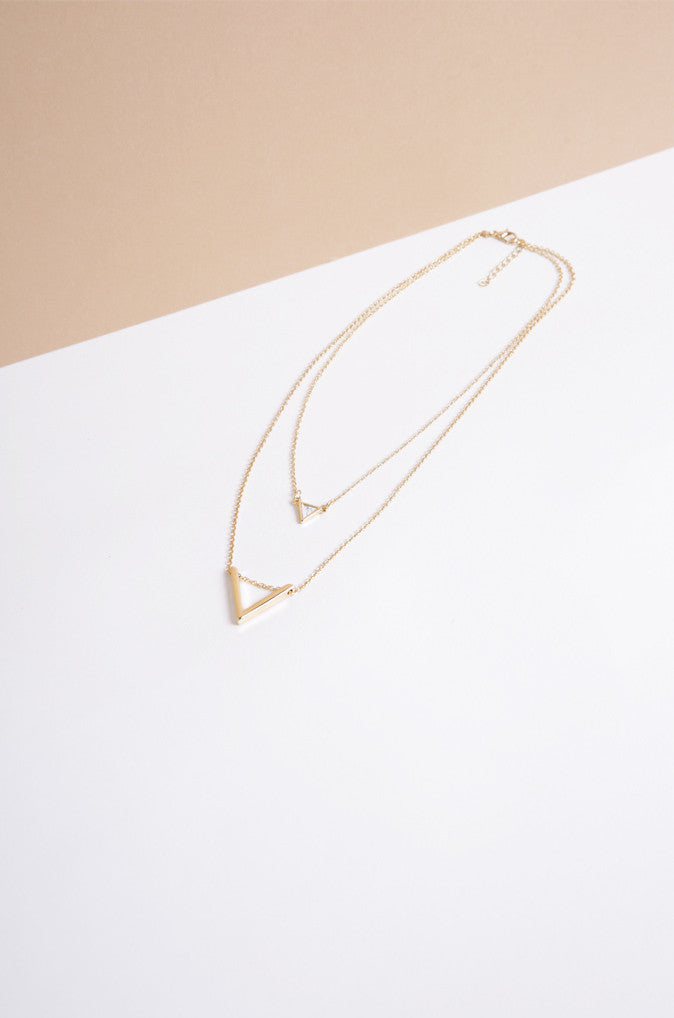 Marmair Layered Necklace with White Marble