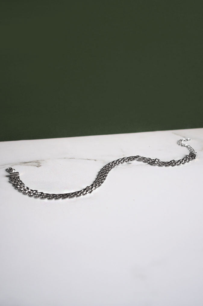 Mej Chain Choker in Silver