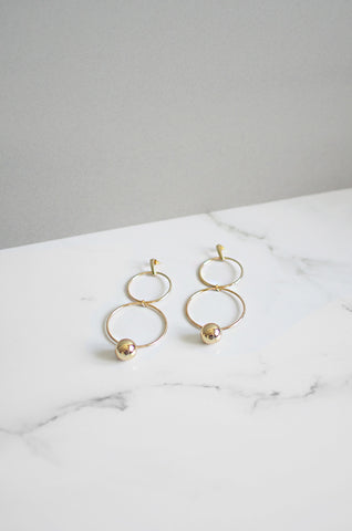 Neach Earrings in Gold
