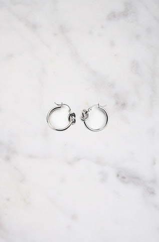 Nexus Knot Earring in Silver
