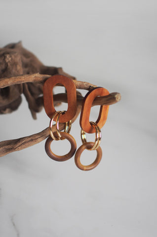 Ulpan Wooden Earrings