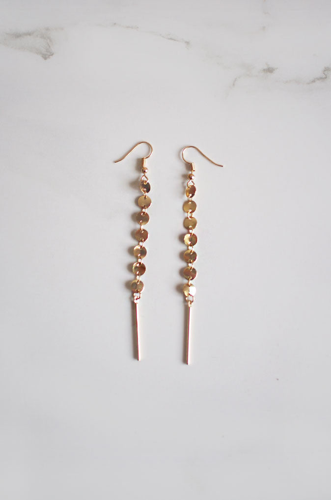 Osc Drip Earrings in Gold [24% OFF]