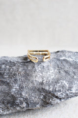 Patro Crystal Ring in Gold [32% OFF]