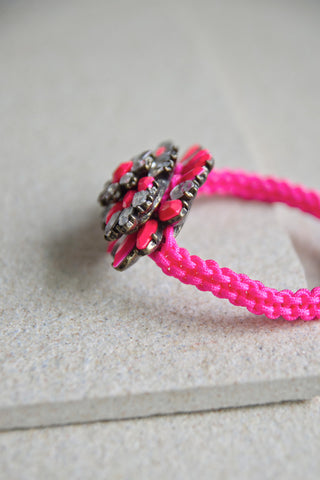 Pelias Rope & Gem Bracelet in Pink [60% OFF]