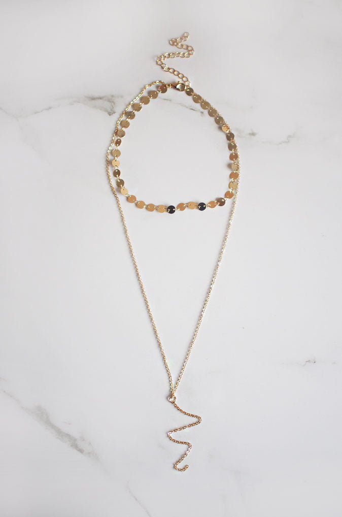 Sil Layered Necklace in Gold