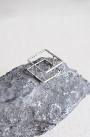 Square Flat Ring in Silver [50% OFF]