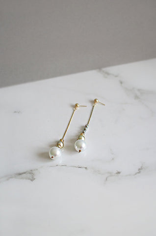 Stakkr Asymmetrical Earrings in Gold