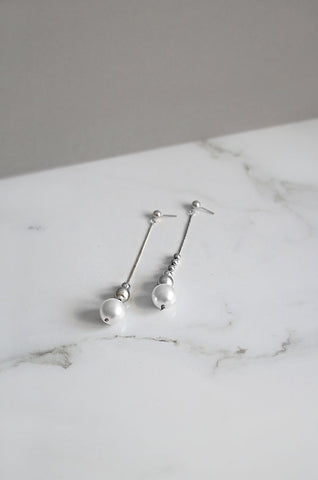 Stakkr Asymmetrical Earrings in Silver