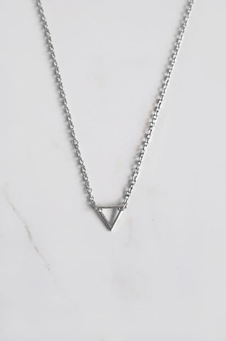 Triangle Necklace in Silver