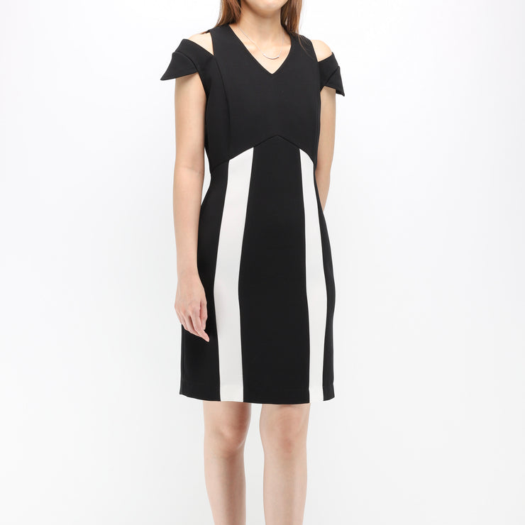 Hana contrast colour dress