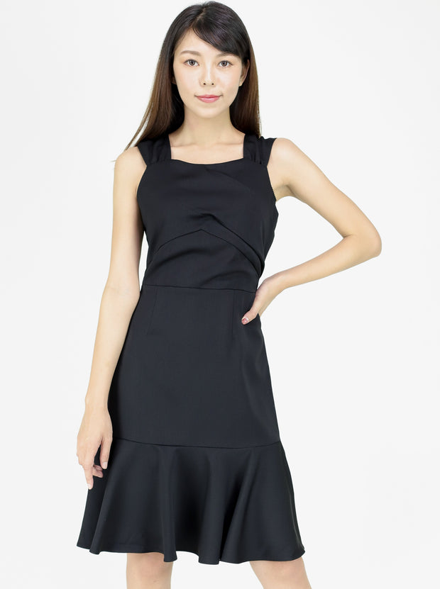 Estee Pleated front dress