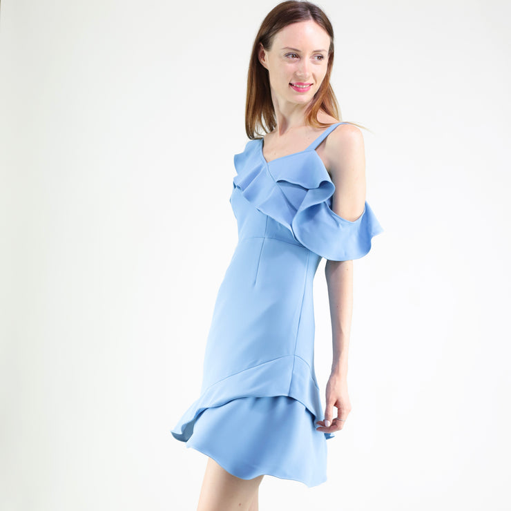 Ruffle details asm dress