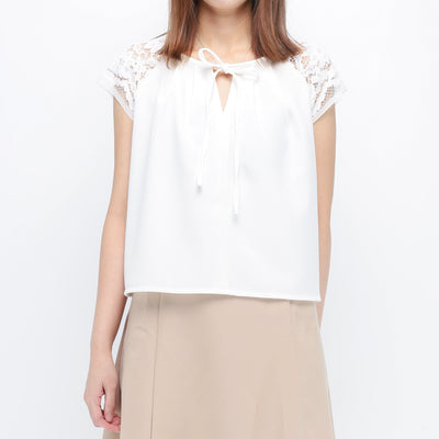 Hana lace shoulders top