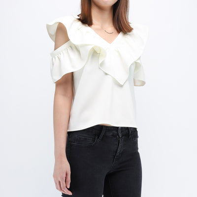 Gia ruffle sleeves top