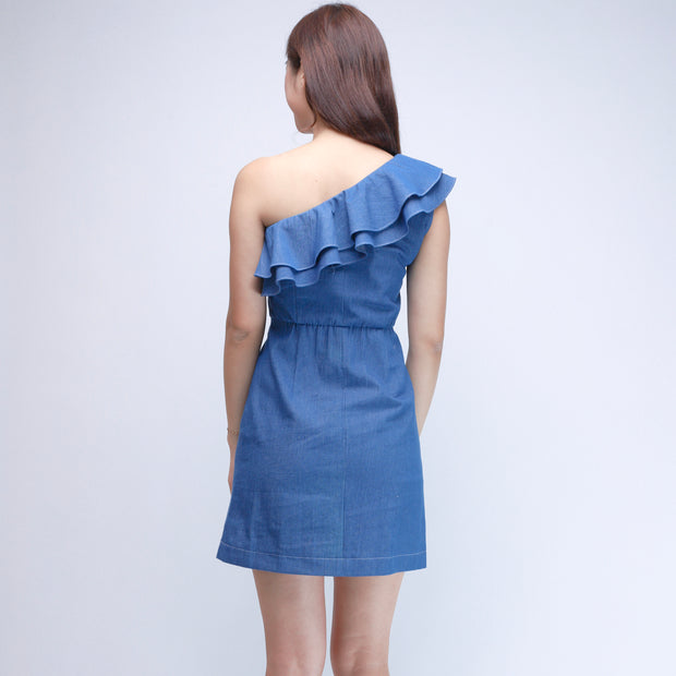 Gia denim ruffle dress