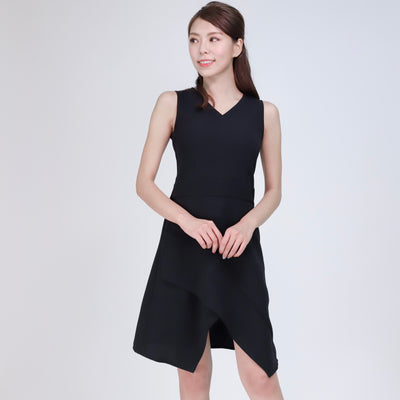Farah Asymmetric Hem Dress