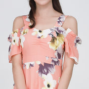 Farah Floral Gathered Front Dress