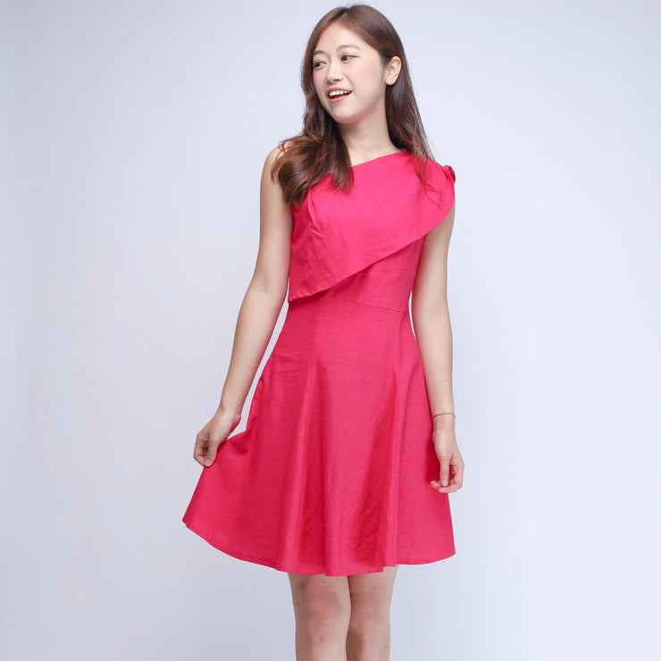Hana gathered shoulders dress