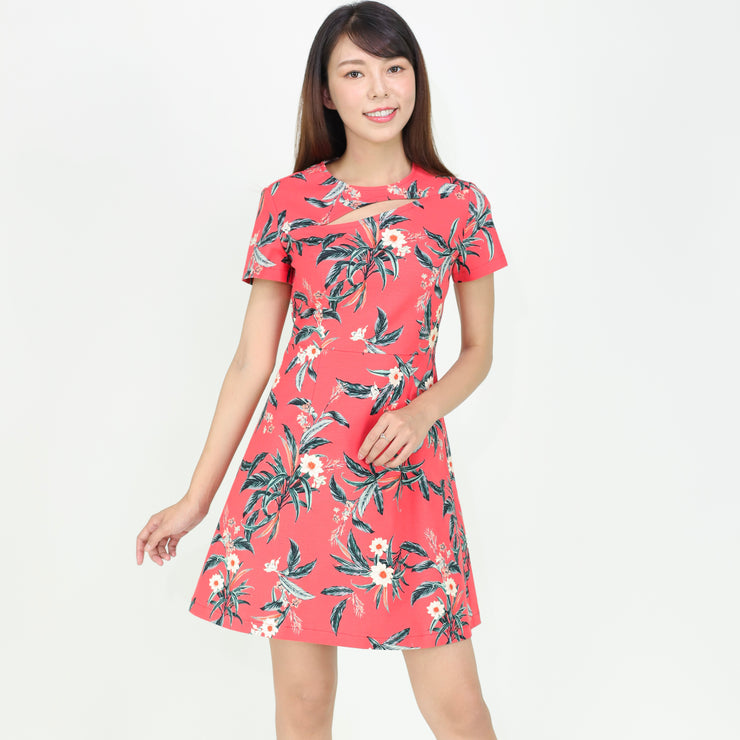 Farah Cutout Front Floral Dress