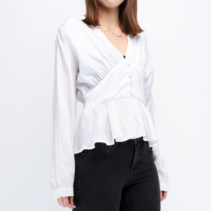 Hana gathered front and hem top