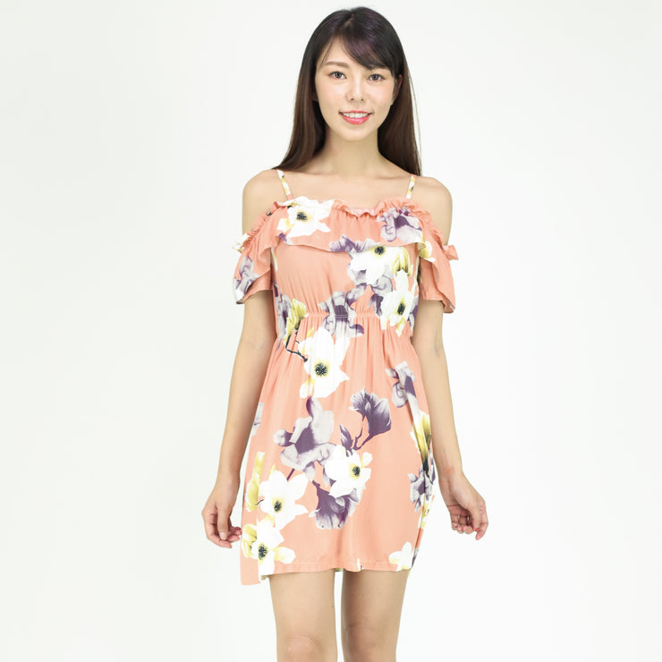 Farah Elastic Waist Floral Dress