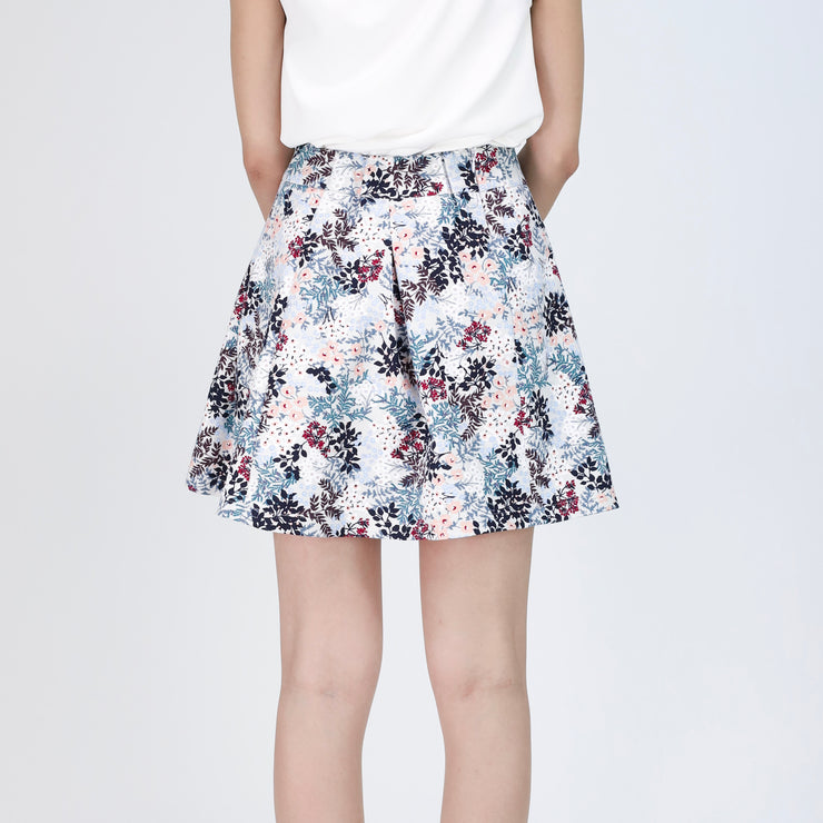 Farah Pleated Floral Skirt