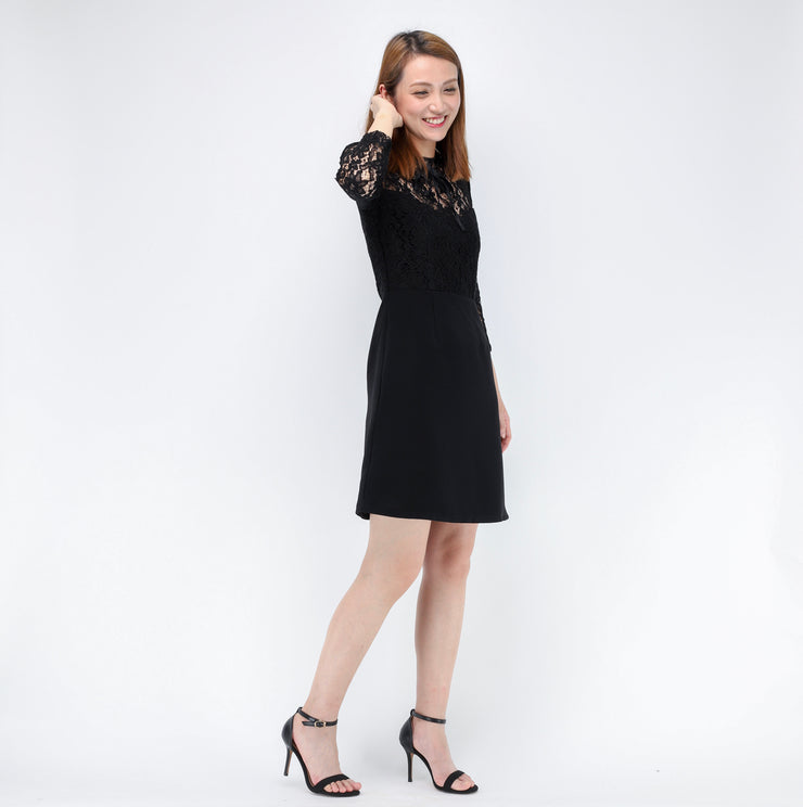 Jane lace sleeves dress