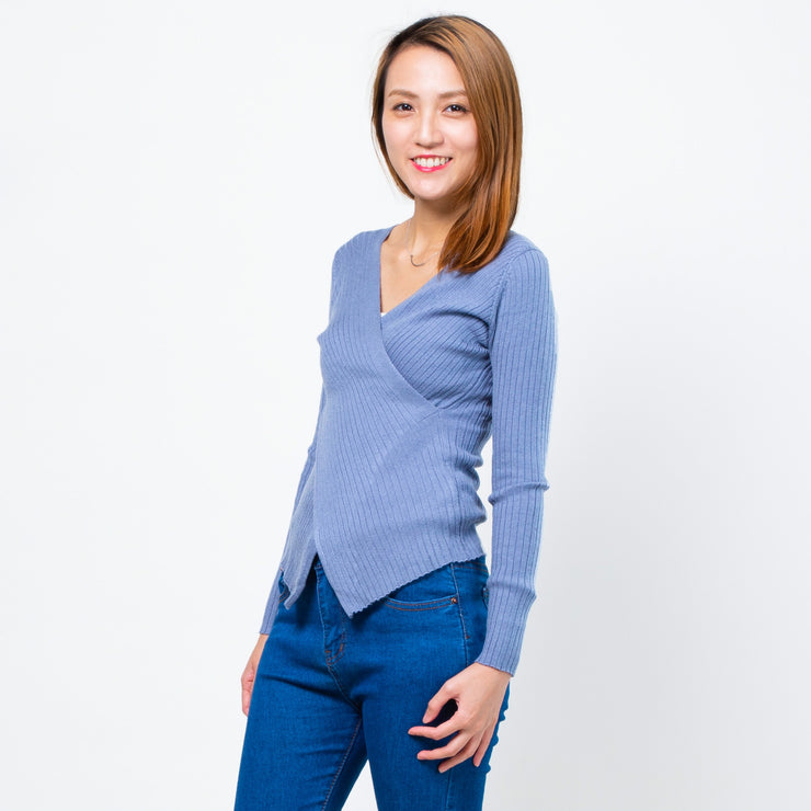 Jane cross front knit top