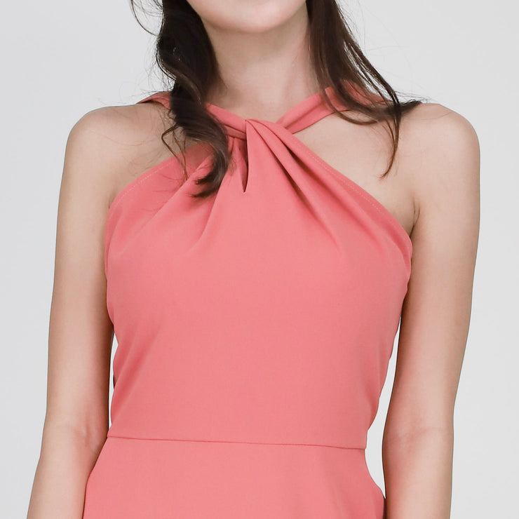 Farah Halter Neck Dress