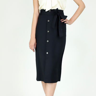 Farah Button Details Skirt