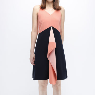 Hana salmon print dress