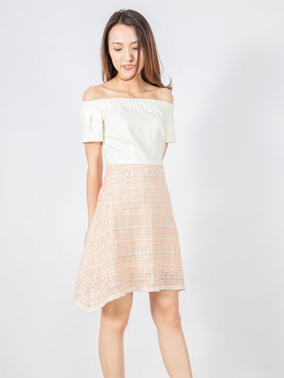 Bella pleated sleeves dress