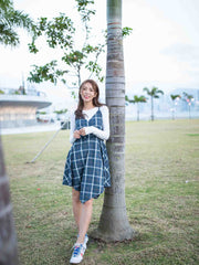 Laura blue check dress