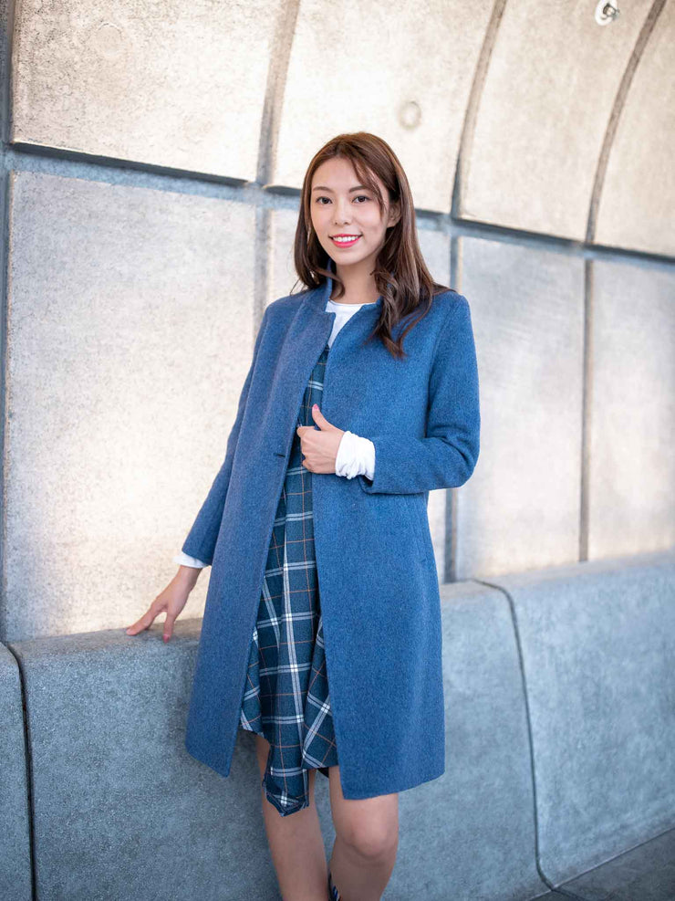 Laura one button wool coat