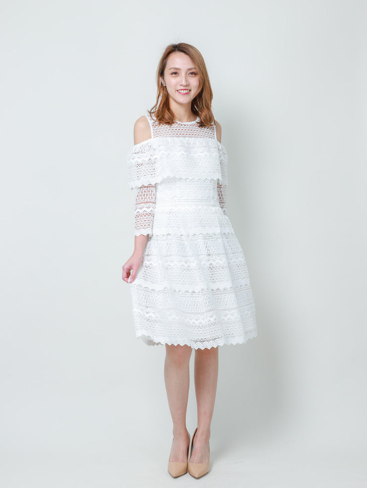 Laura drop shoulder lace dress
