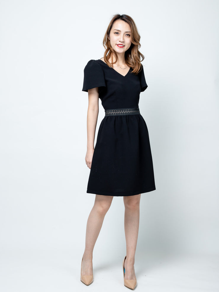 Maisy ruffle sleeves dress