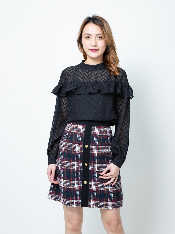 Alexa black blouses top