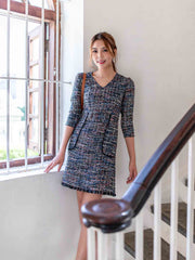 Alexa tweed dress
