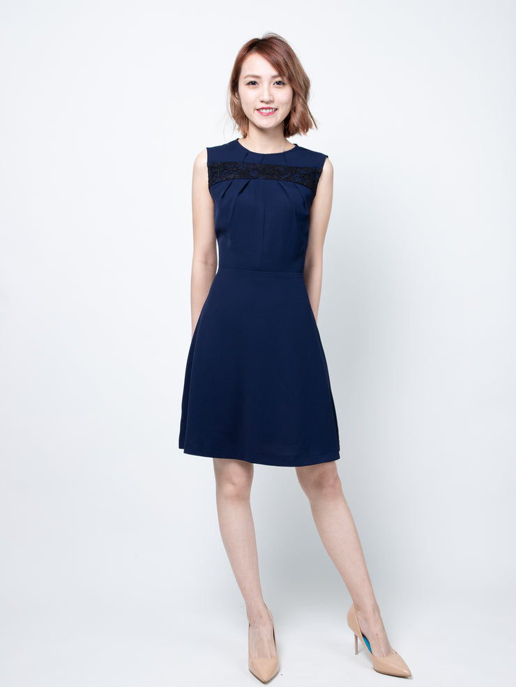 Bria pleated front dress