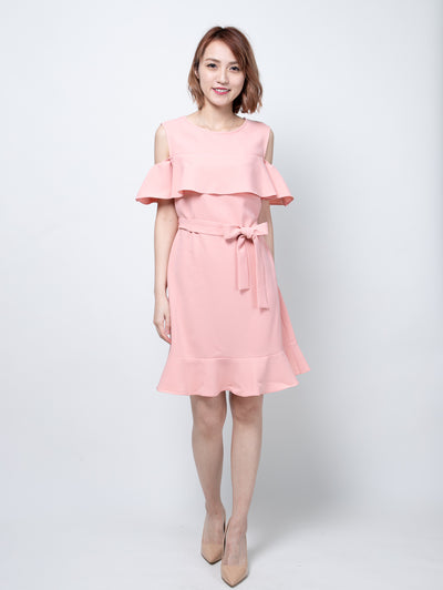 Bria ruffle hem dress