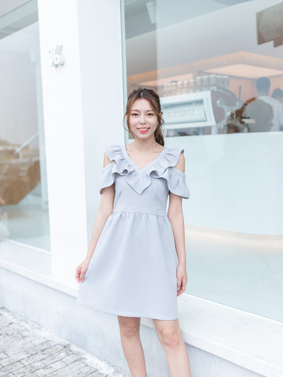 Bria ruffle v-neck dress